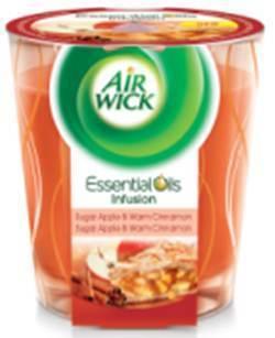 AirWick EOI Deco svíčka Č.jablko+svař.víno 105g