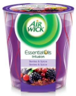 AirWick EOI Deco svíčka Lesní plody 105g