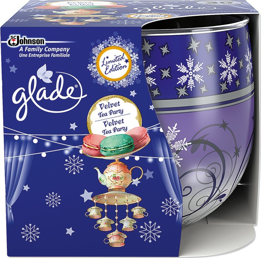 Glade svíčka Velvet Tea Party 120g