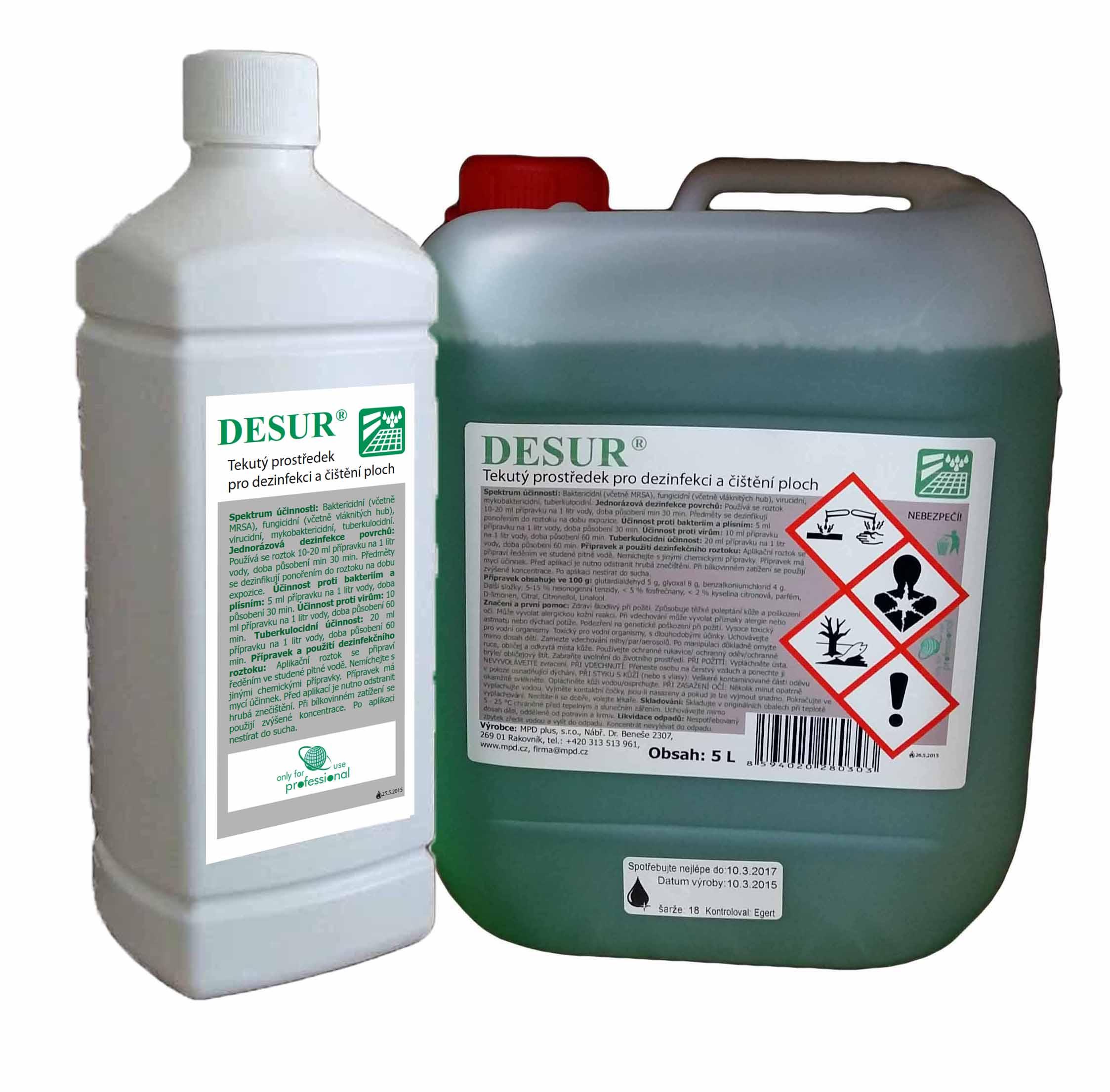 Desur 1l - čištění a dezinfekce ploch