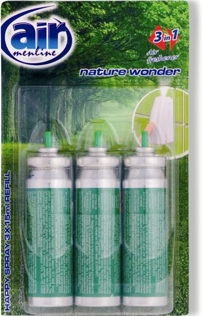 AIR menl.happy spray 3x15ml Nature náplň