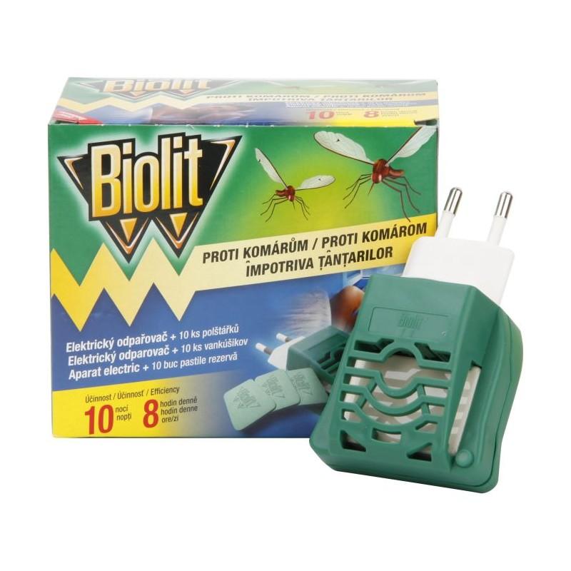 Biolit elekt. odpařovač + 10ks polštářků