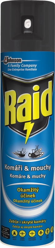 Raid proti létajícímu hmyzu 400 ml/Modrý