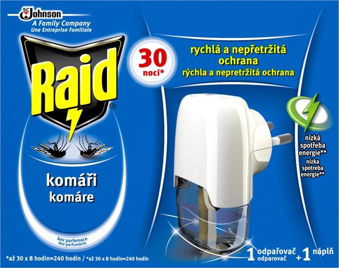 Raid elektr. odpařovač s tekutou náplní 30nocí