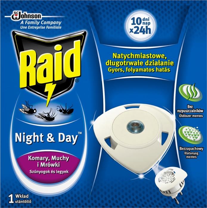 Raid proti komárům a mouchám náplň 10x24hod