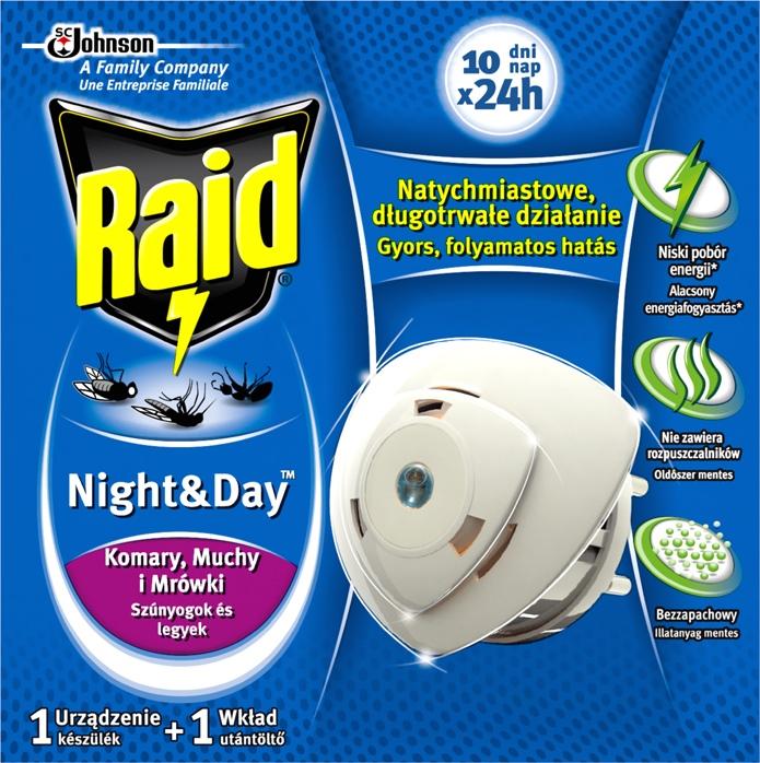 Raid proti komárům a mouchám odpařovač