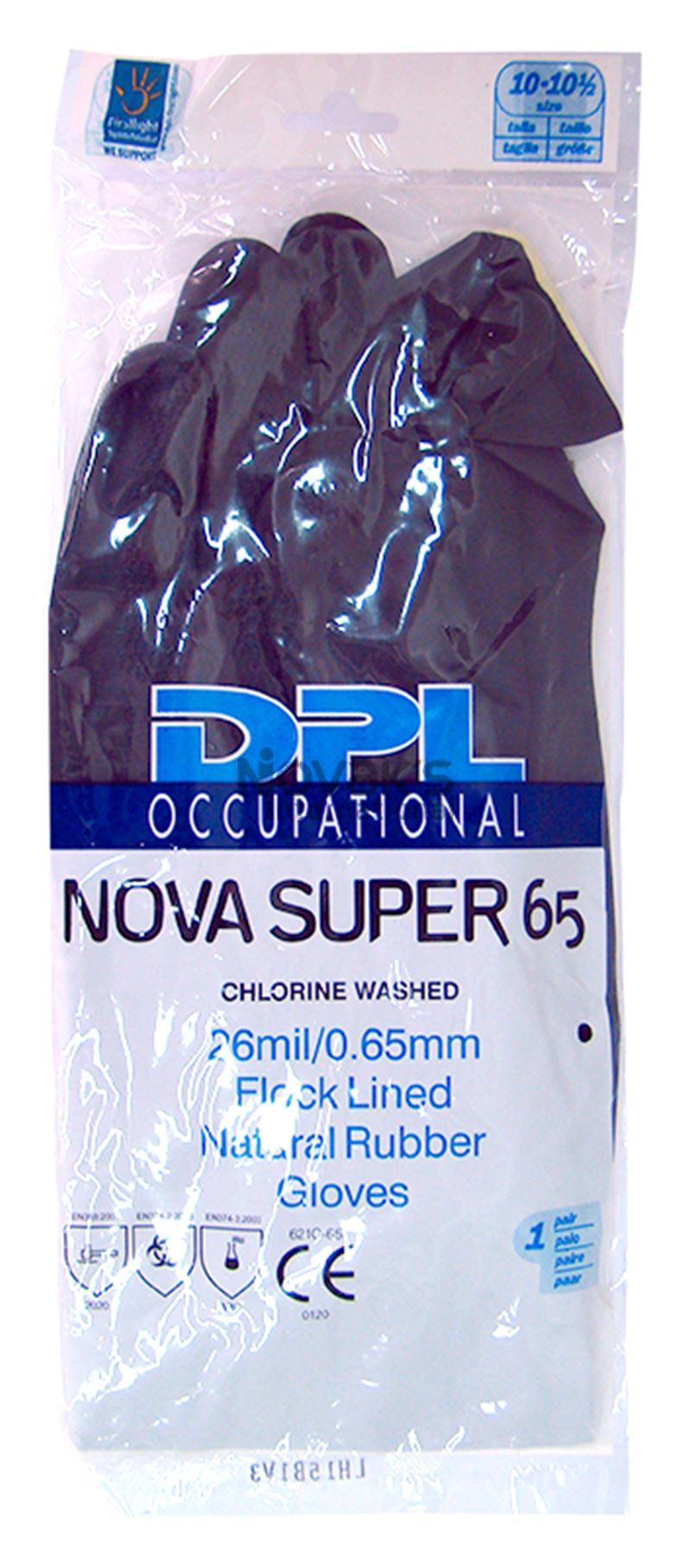 Rukavice silné 0,65mm 10-10,5 černé