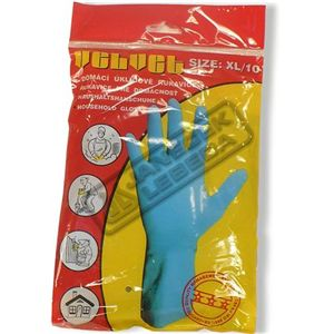 Rukavice gumové Semišované 10/XL