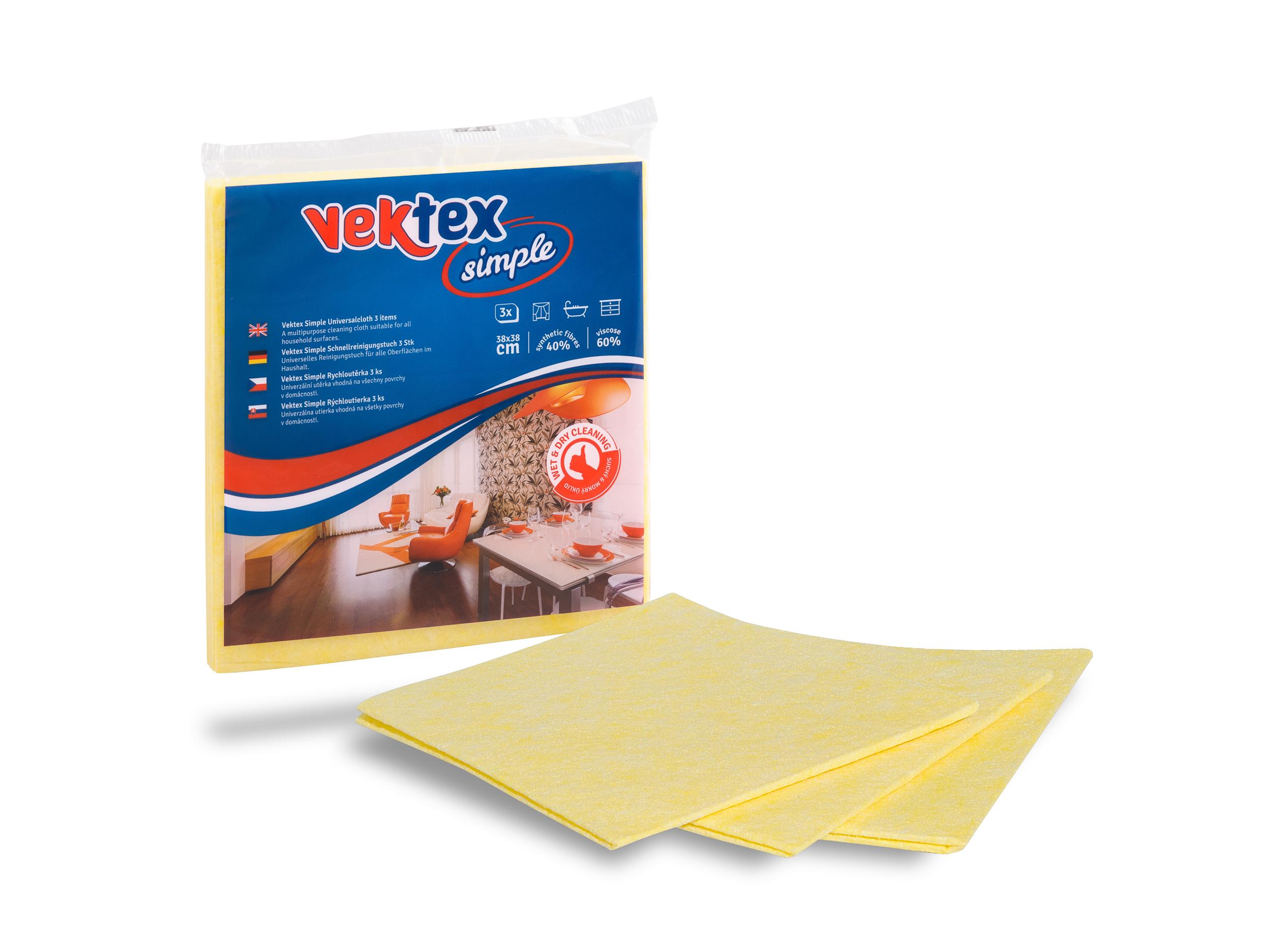 Rychloutěrky 3ks 38x38cm Vektex Simple (mix barev)