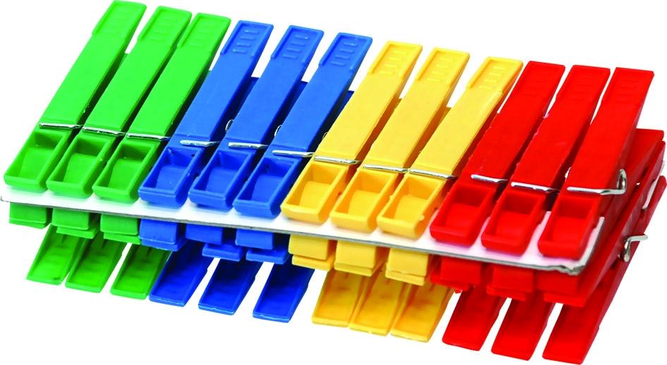 Kolíčky 20ks plastové Fave
