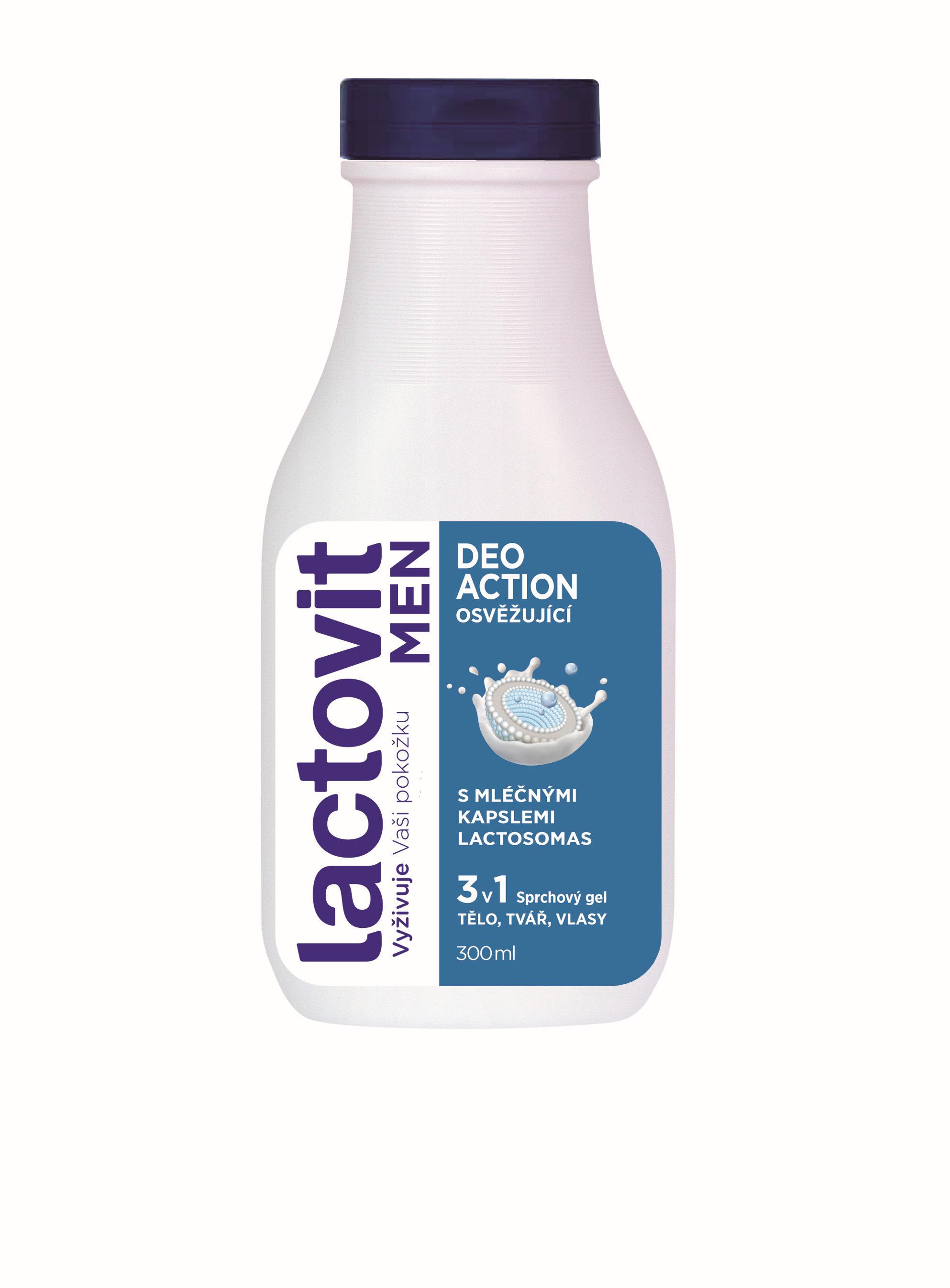 Lactovit Men DeoAction sprchový gel 300ml