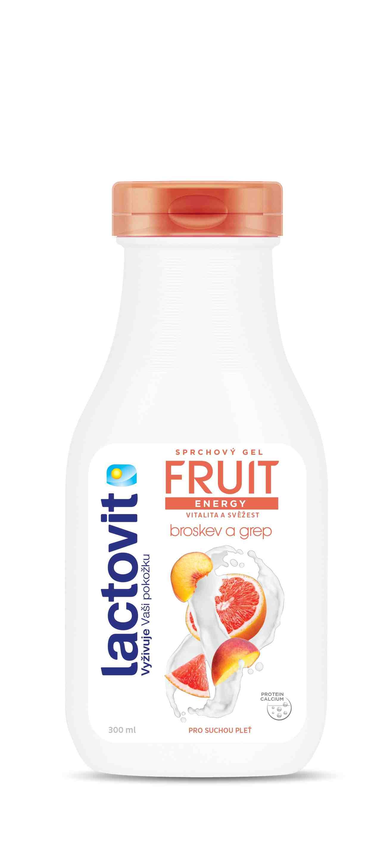 Lactovit Fruit Broskev&grep sprchový gel 300ml