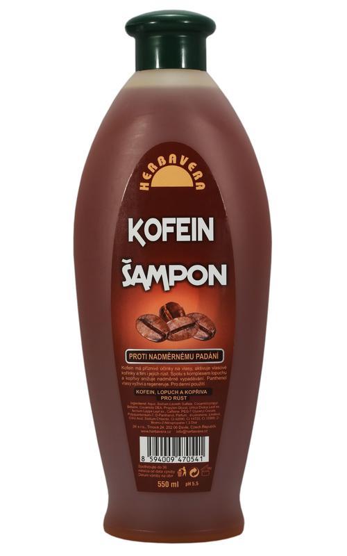Herbavera Šampon kofeinový 550ml