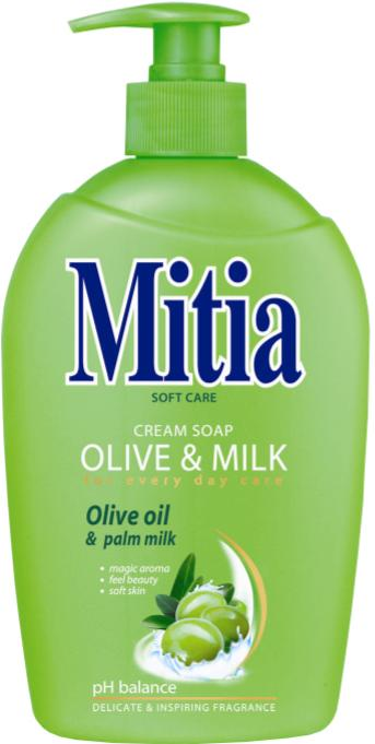 Mitia tek.mýdlo 500ml Olive & Milk  pump