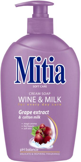 Mitia tek.mýdlo 500ml Wine & Milk  pump