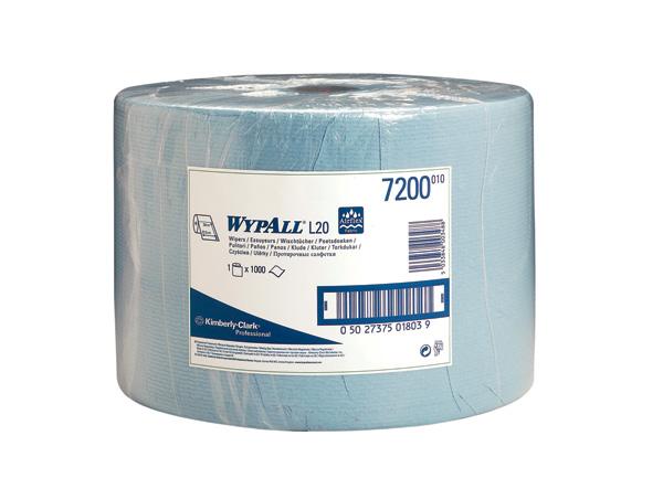 Průmyslové utěrky papír. Wypall L20 7200