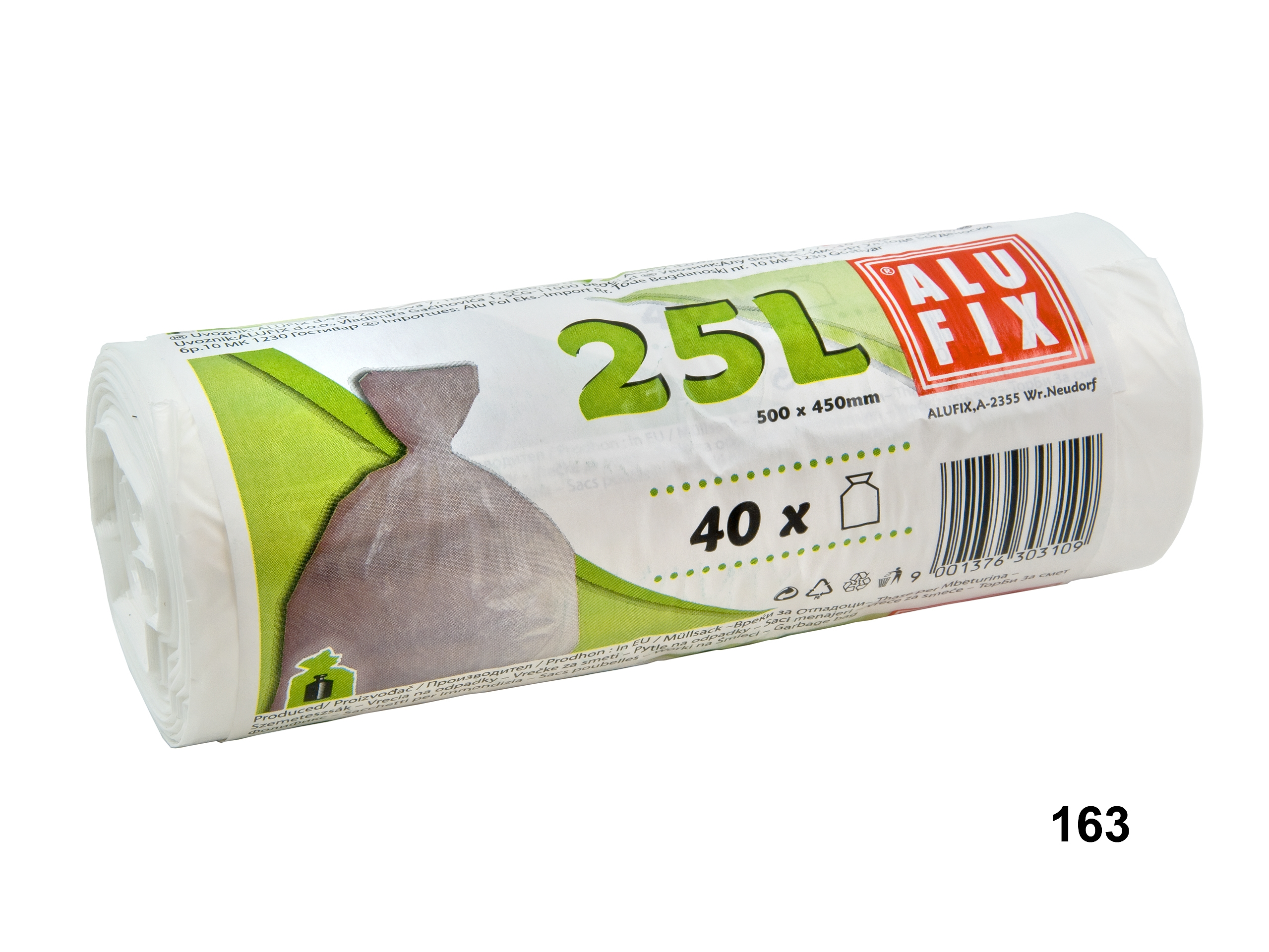 Pylte na odpad 25l/40ks 50x45cm bílé Alufix