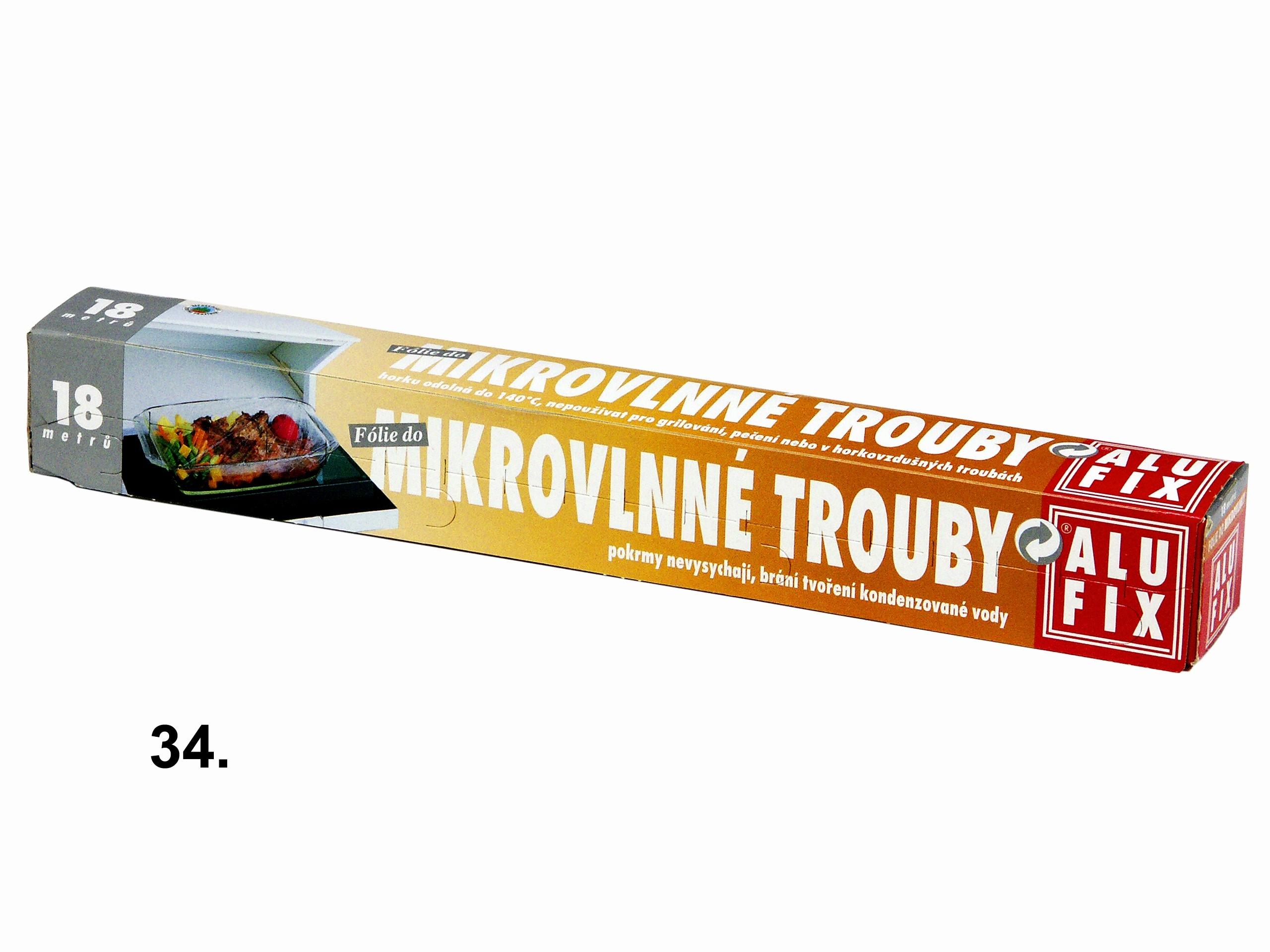 Folie do mikrovl.trouby  Alufix 18m, 9µm